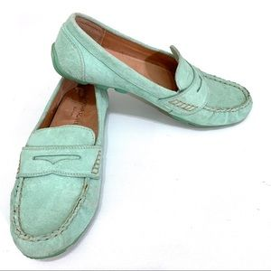 Cynthia Rowley Mint Suede Loafer